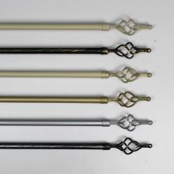 Bastone Torciglione Estendibile per Tenda con Anelli e Supporti