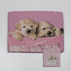 Completo Matrimoniale Friends 3D Cuccioli Rosa