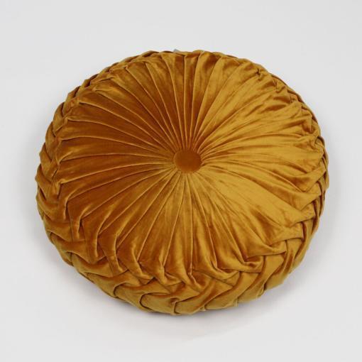 Cuscino Zuccotto in Velluto Oro