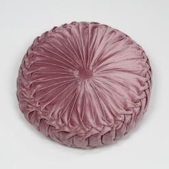 Cuscino Zuccotto in Velluto Rosa