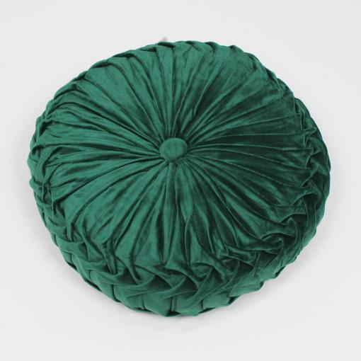 Cuscino Zuccotto in Velluto Verde