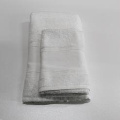 Set Asciugamano 1+1 Aida Bianco
