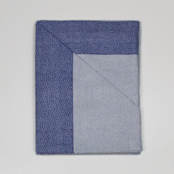 Completo Letto in Cotone Borbonese Azzurro