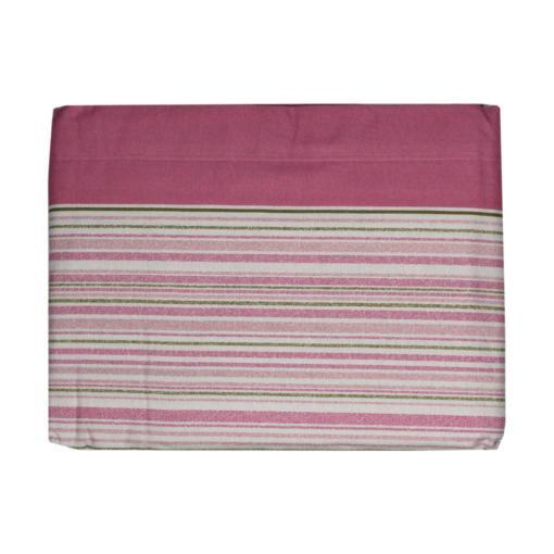 Completo Flanellla Martrimoniale Angel's Line Righe Rosa