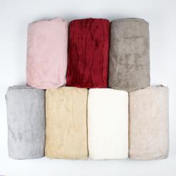 Plaid in pile Melania Tinta Unita Mastro Bianco