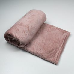 Plaid in pile Melania Tinta Unita Rosa