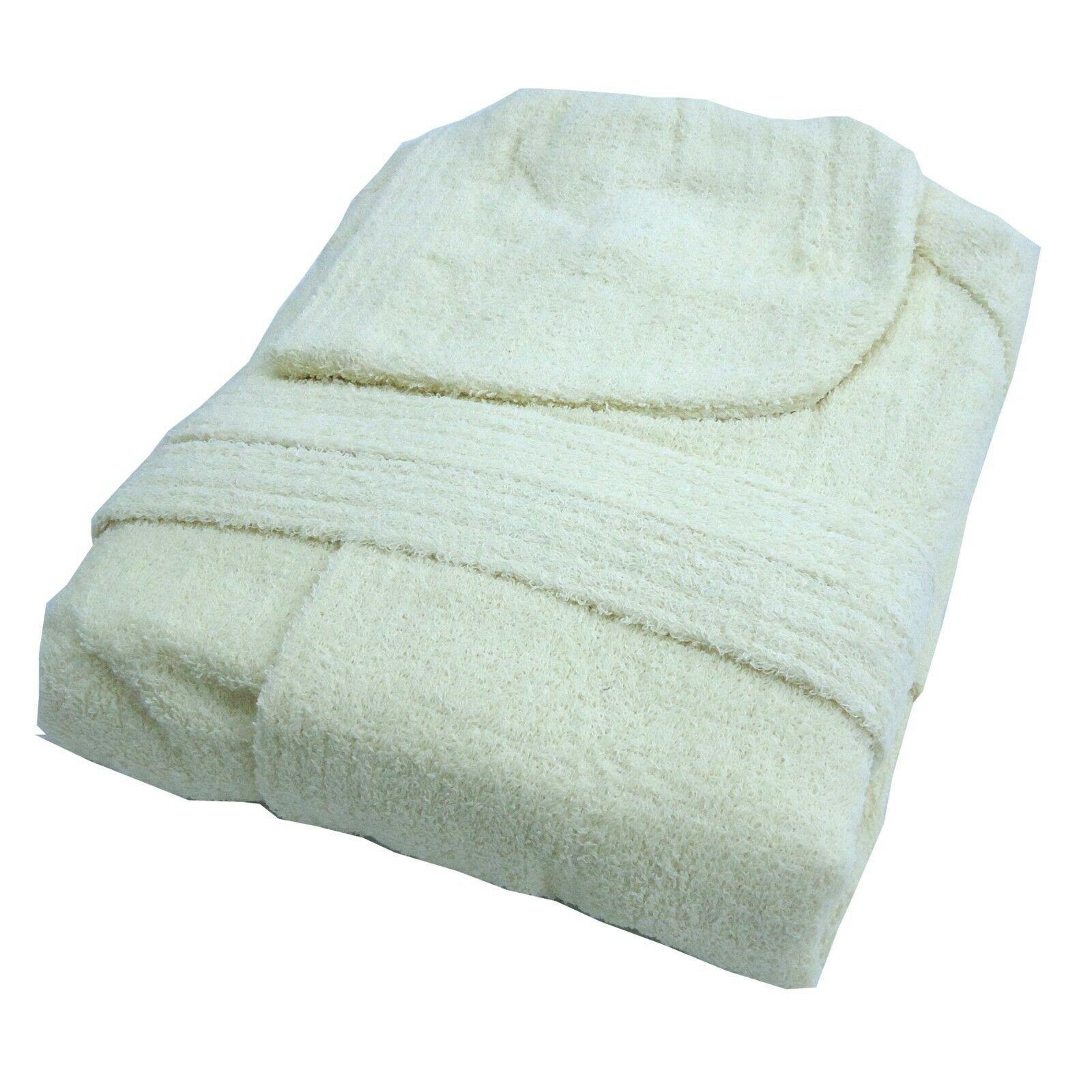 L Accappatoio bianco con Cappuccio in Spugna 100/% Cotone Tinta Unita Uomo Donna Unisex