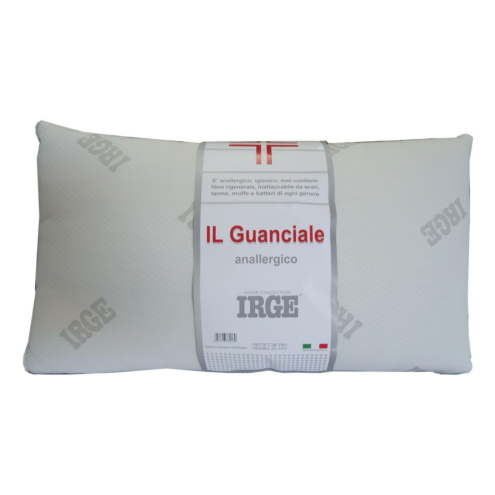 Cuscini Irge.Cuscino Guanciale Irge Anallergico Igienico Made In Italy 50x80